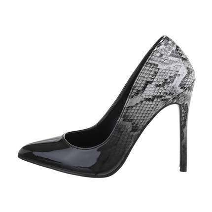 Damen High-Heel Pumps - blackwhite