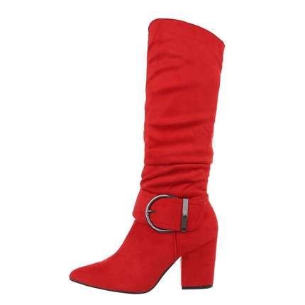 Damen High-Heel Stiefel - red