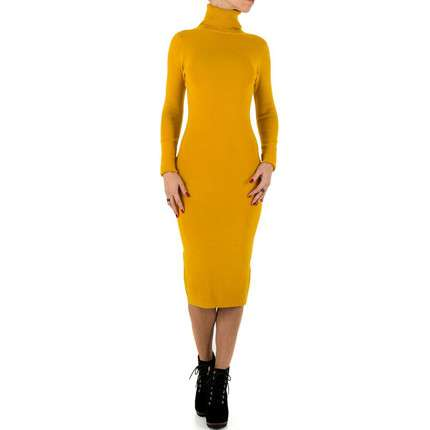 Damen Kleid von SHK Paris Gr. One Size - mustard