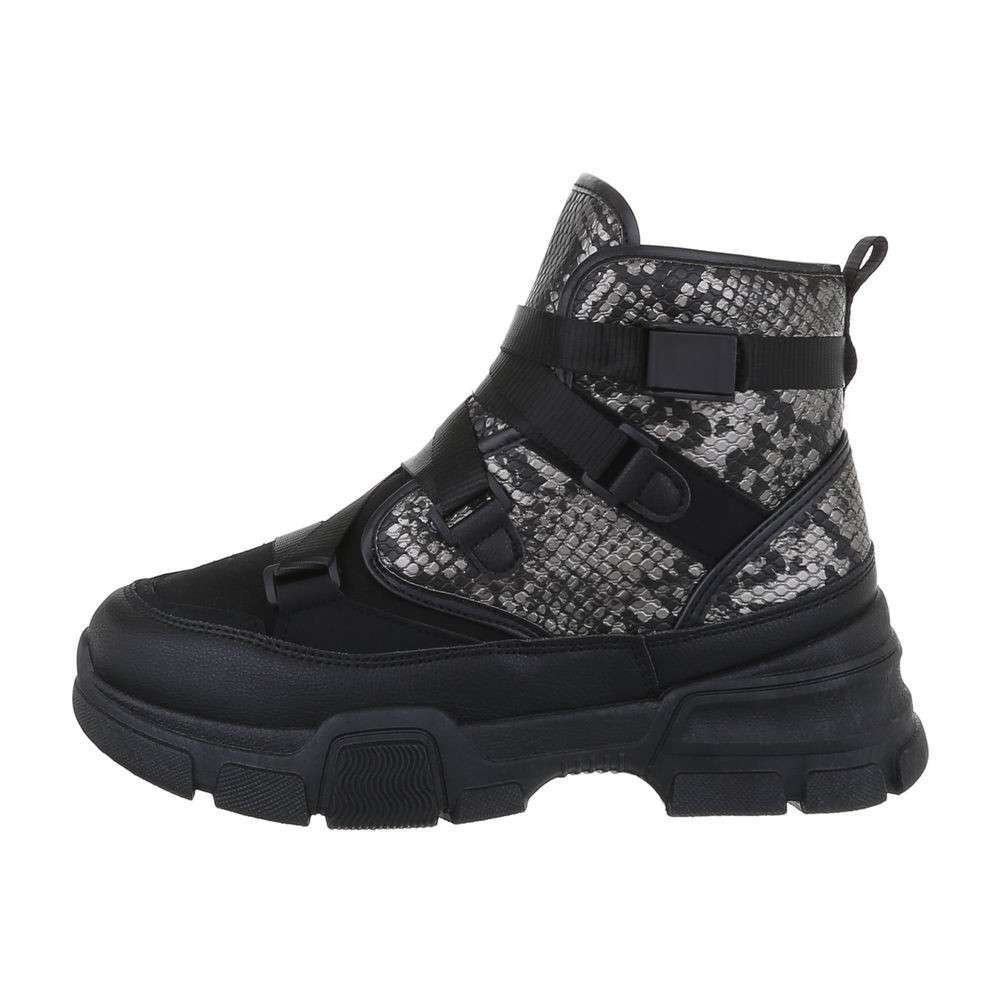 Pantofi sport înalți pentru femei - negri - image 1