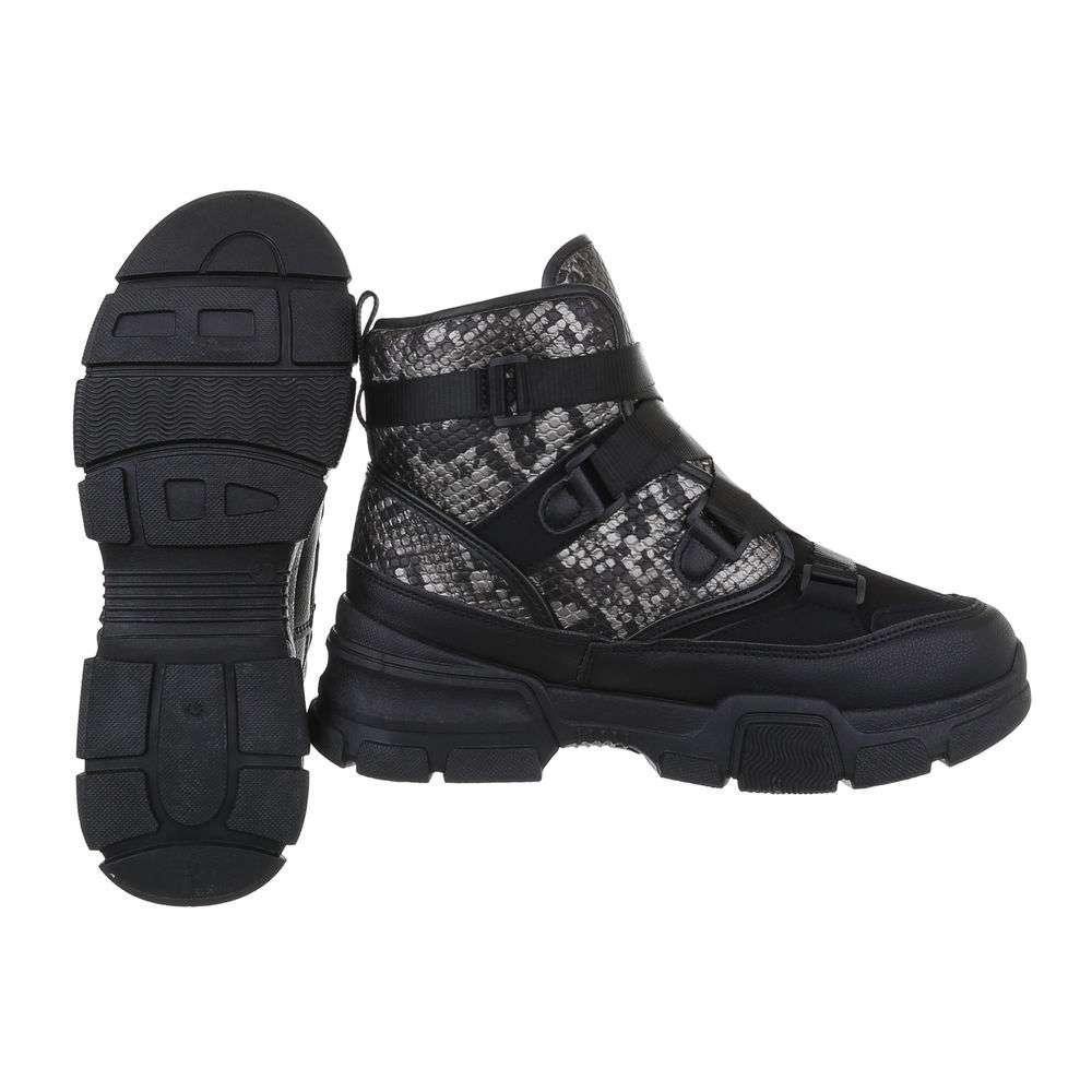 Pantofi sport înalți pentru femei - negri - image 2