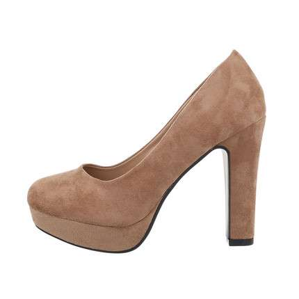 Damen High-Heel Pumps - khaki