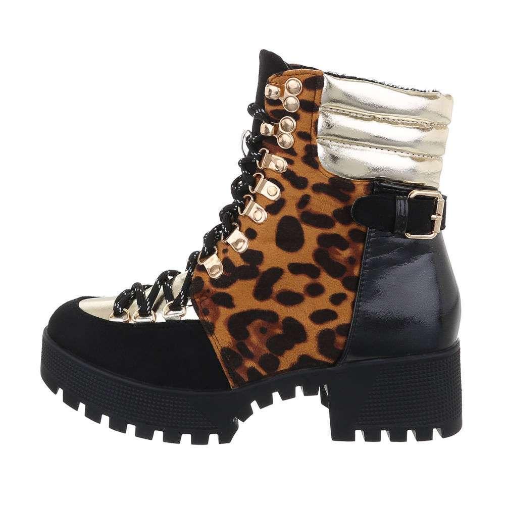Cizme de dama cu cordon - leopard - image 1
