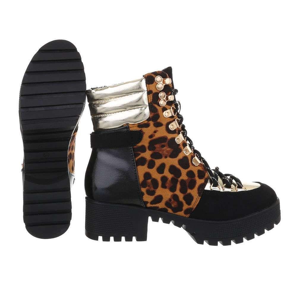 Cizme de dama cu cordon - leopard - image 2