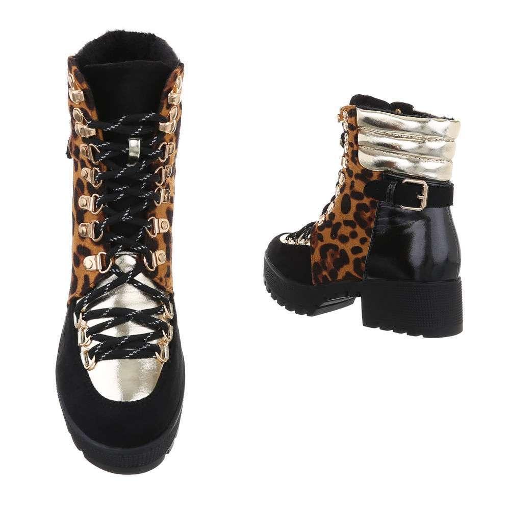 Cizme de dama cu cordon - leopard - image 3