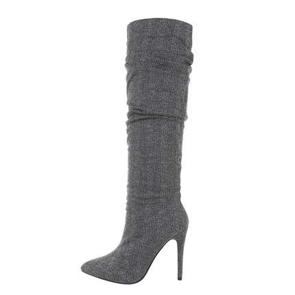 Damen High-Heel Stiefel - grey