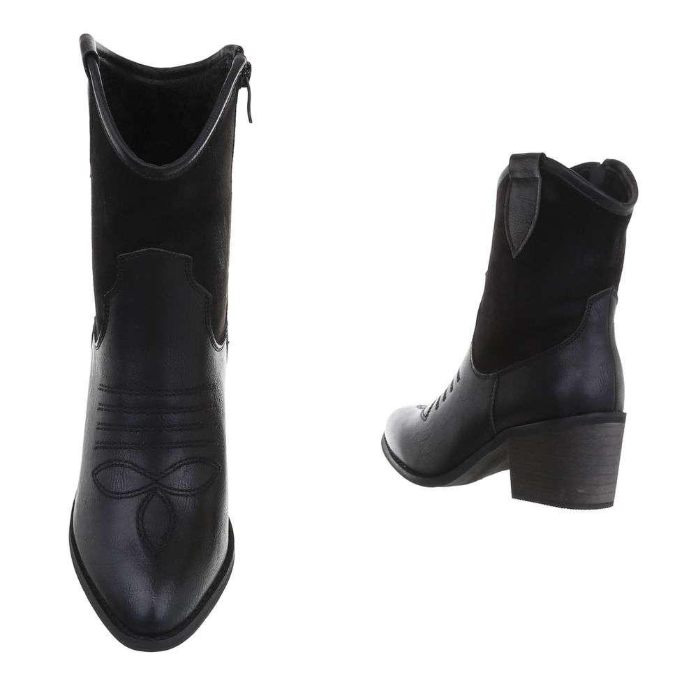 Cizme de damă occidentale si motocicliste - negru - image 3