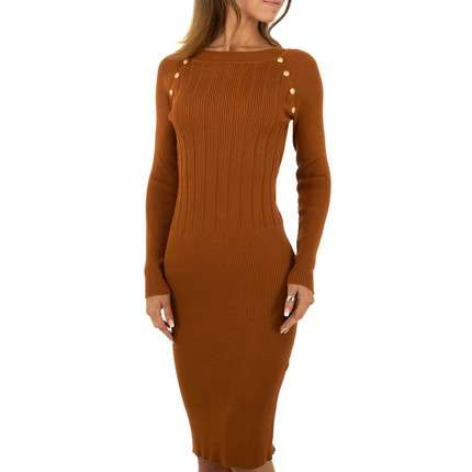 Damen Kleid von Emma&Ashley Design - camel
