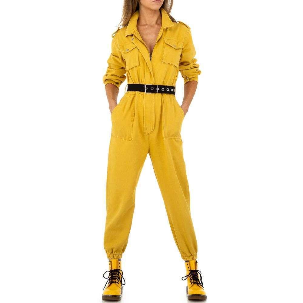 Salopetă pentru femei de See See Denim - galben