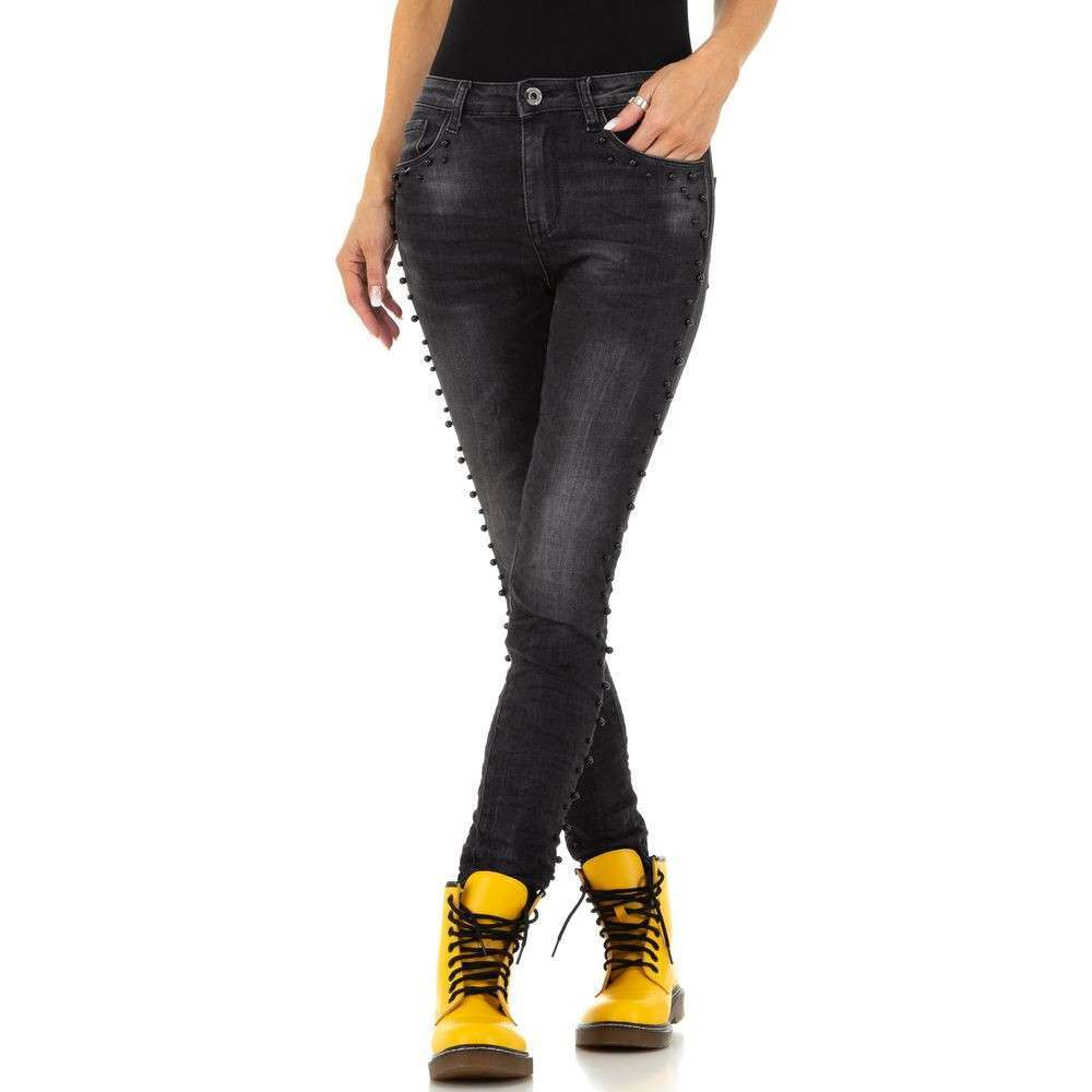 Blugi de dama Jewelly Jeans - negri