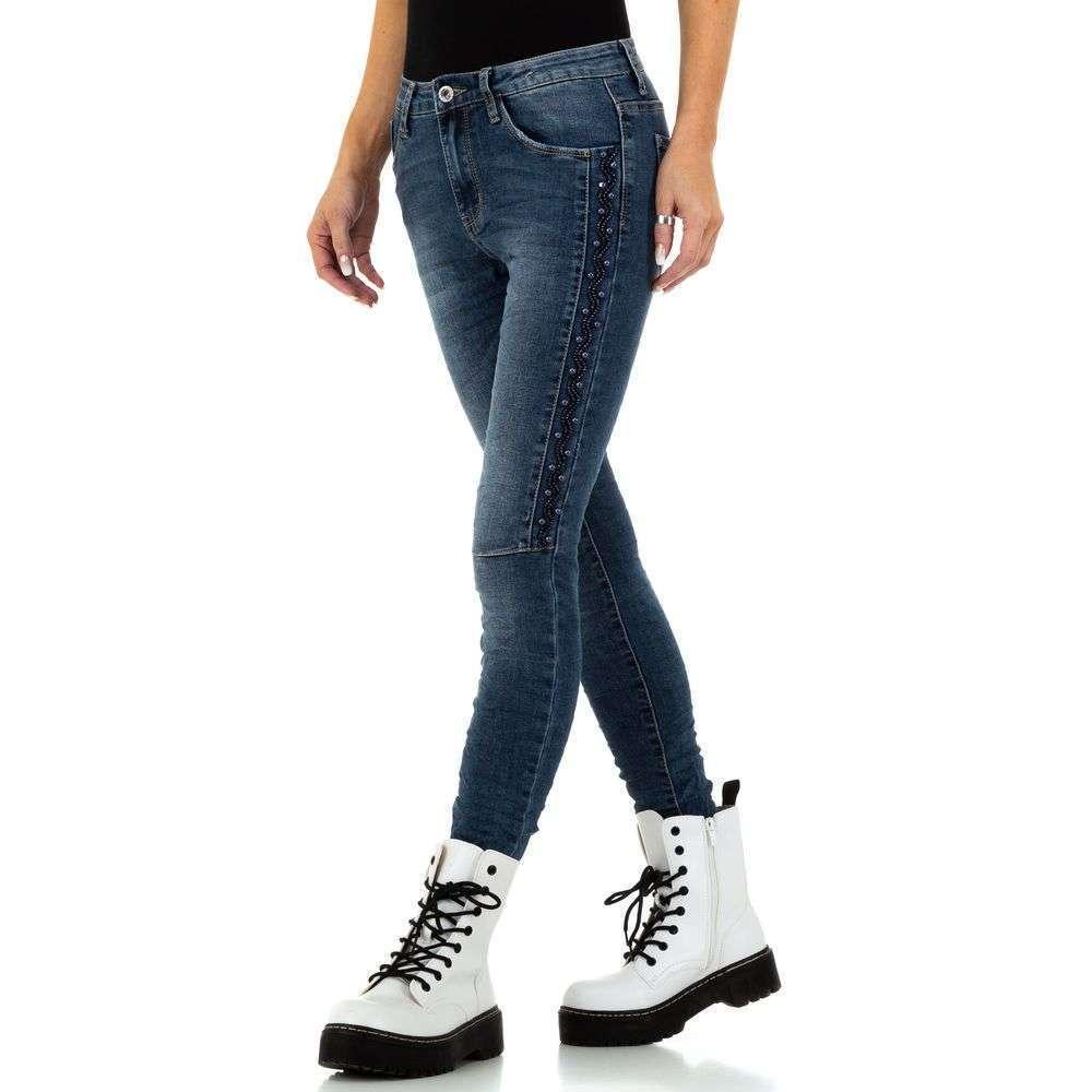 Blugi de dama Jewelly Jeans - albastru