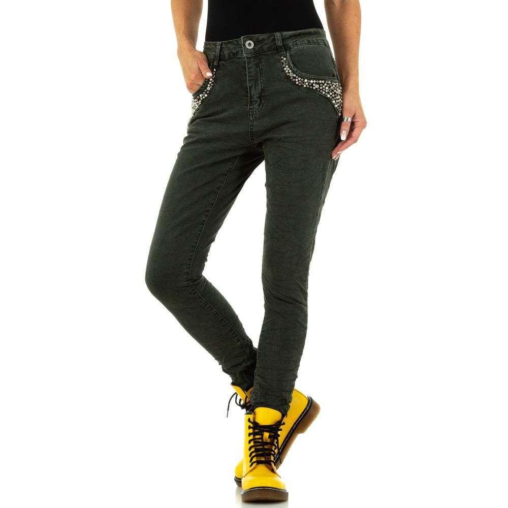 Blugi pentru femei de la Jewelly Jeans - kaki