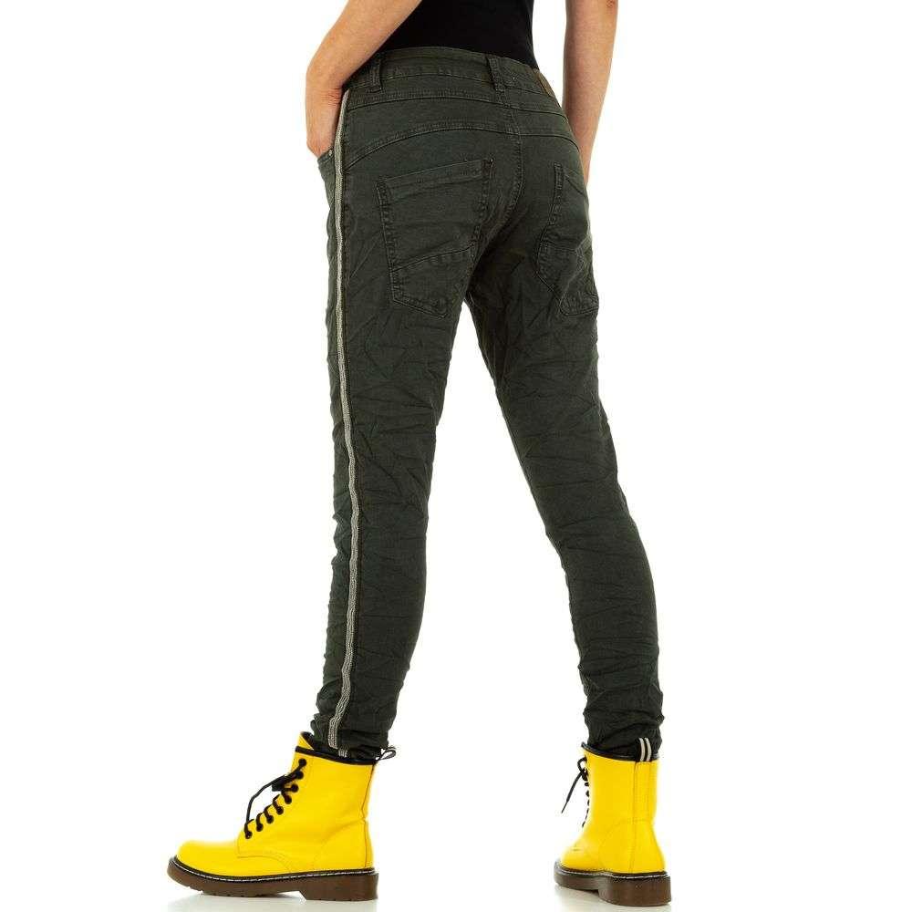 Blugi de damă marca Lexxury Jeans - verzi - image 3
