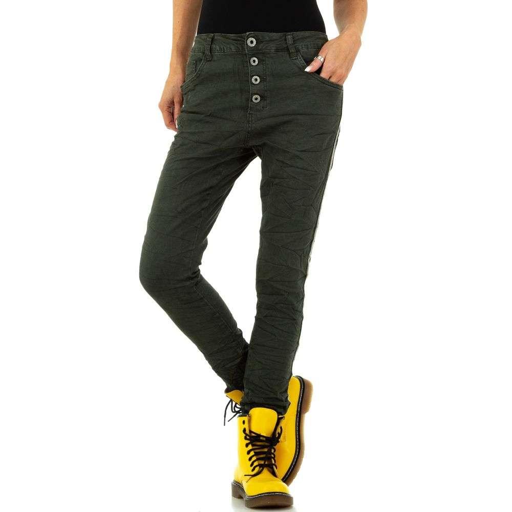 Blugi de damă marca Lexxury Jeans - verzi - image 4