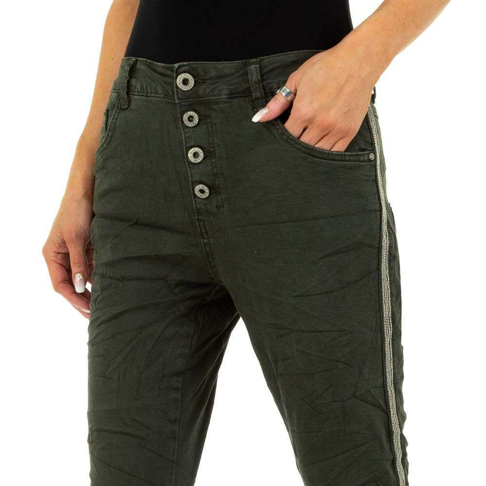 Blugi de damă marca Lexxury Jeans - verzi - image 5
