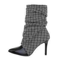 Damen High-Heel Stiefeletten - blackstripes
