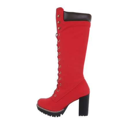 Damen Schnürstiefel - red