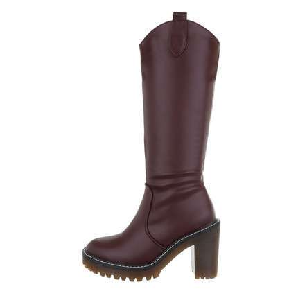 Damen High-Heel Stiefel - wine