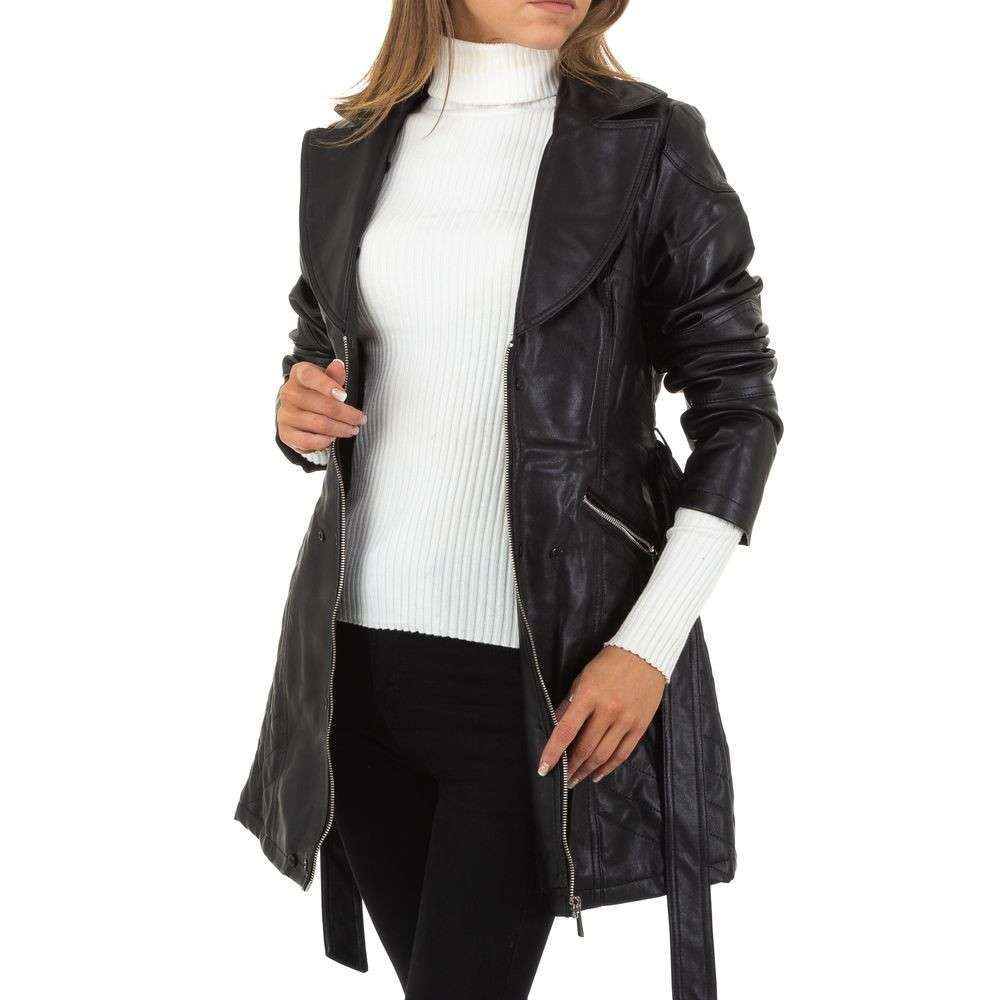 Palton de dama de la Nature - negru - image 5