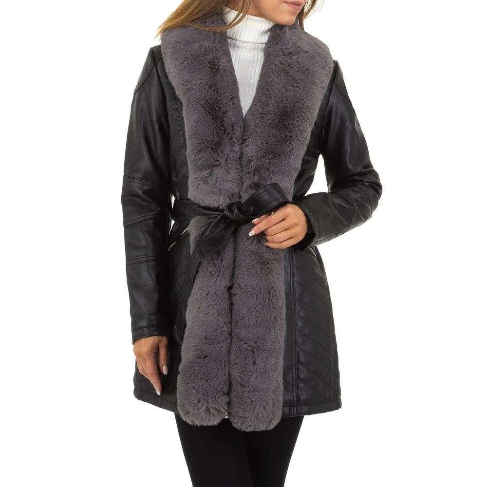 Palton de dama de la Nature - negru-gri