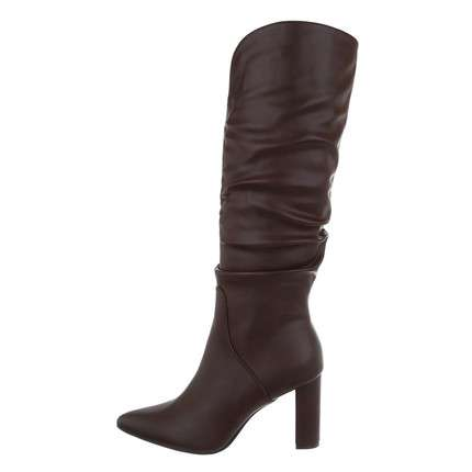 Damen High-Heel Stiefel - brown