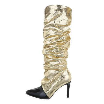 Damen High-Heel Stiefel - gold