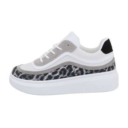 Damen Low-Sneakers - whiteleopard