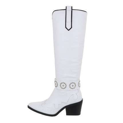 Damen High-Heel Stiefel - white