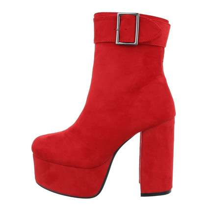 Damen High-Heel Stiefeletten - red