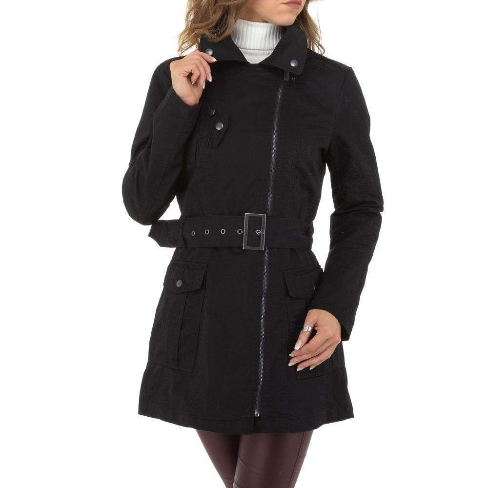 Palton de dama de la Glo storye - negru - image 4