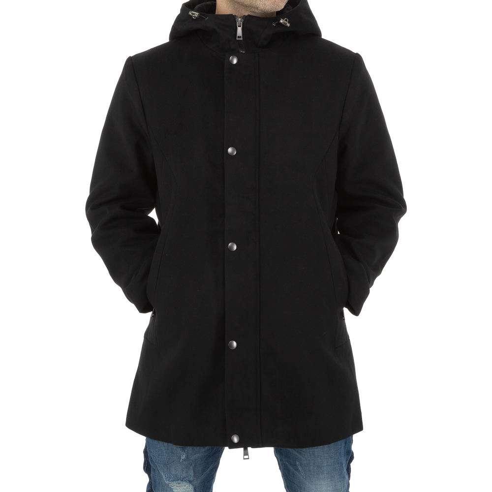Palton bărbătesc de la Nature - negru