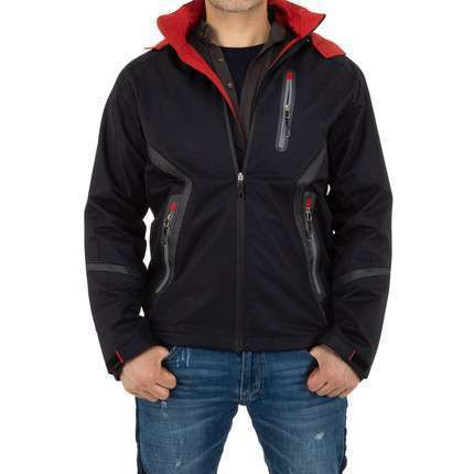 Herren Jacke von Nature - blackred
