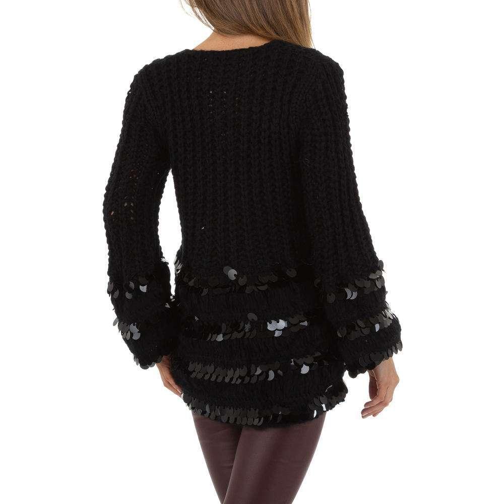 Pulover de dama de Voyelles Gr. O singură mărime - negru - image 3