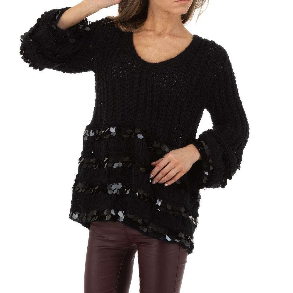 Pulover de dama de Voyelles Gr. O singură mărime - negru - image 4