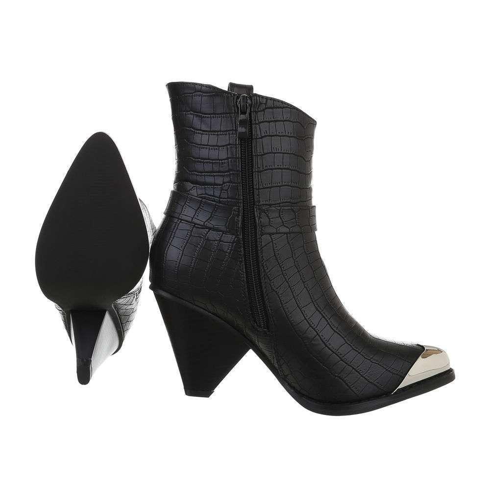 Cizme de damă occidentale si motocicliste - negru - image 2