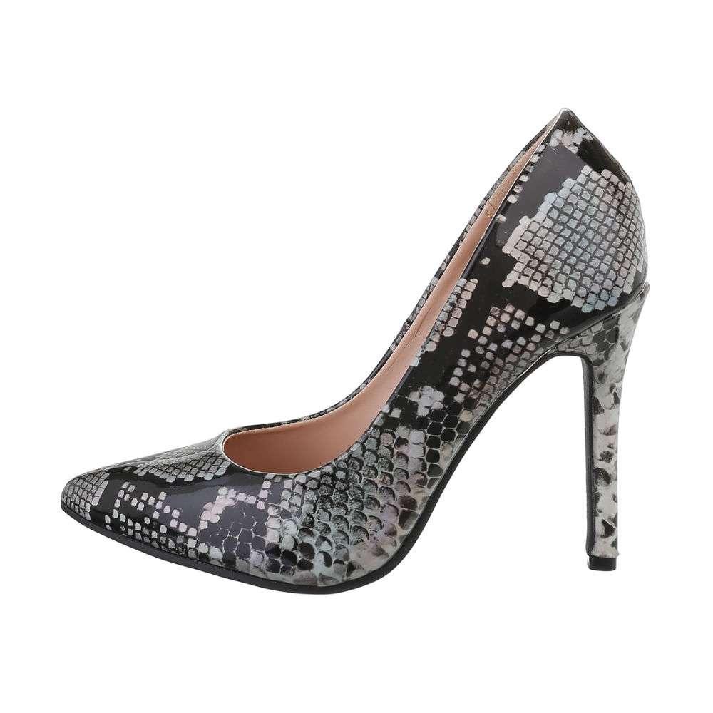 Pantofi cu toc înalt pentru femei - argintii - image 1