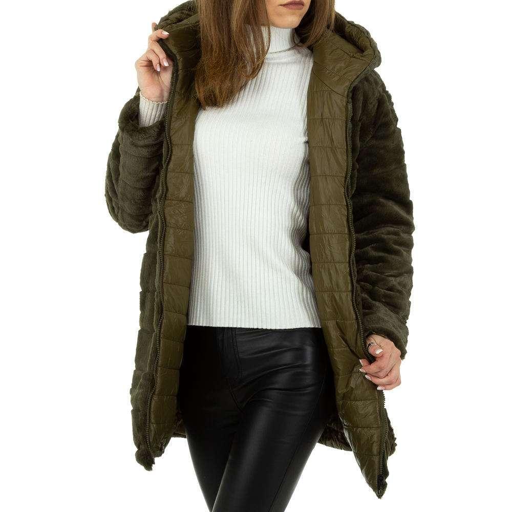 Palton de dama de Voyelles - verde - image 1