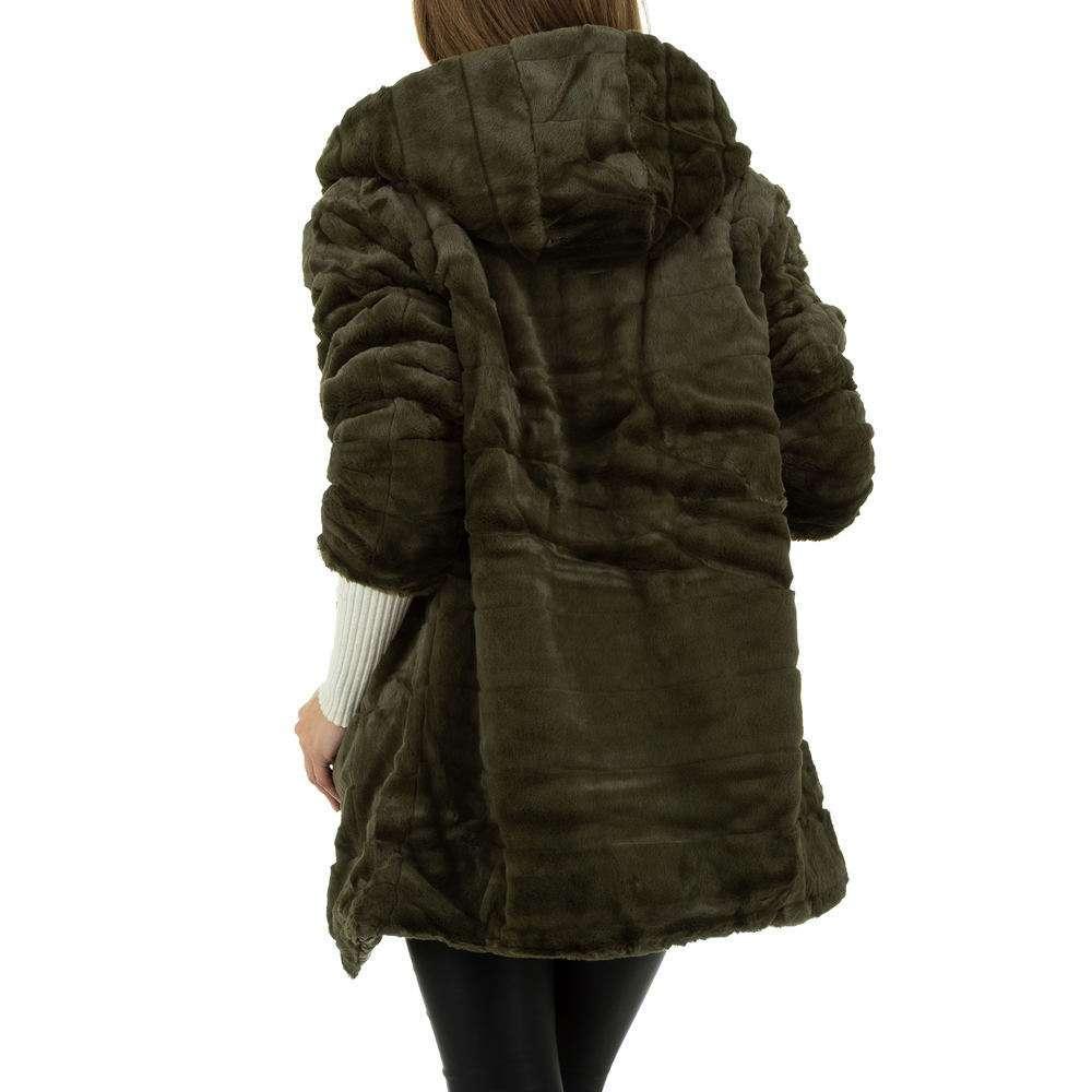 Palton de dama de Voyelles - verde - image 3
