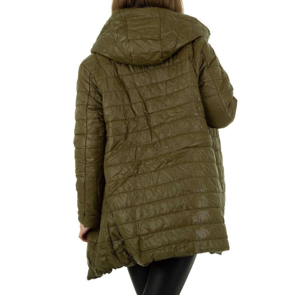 Palton de dama de Voyelles - verde - image 4