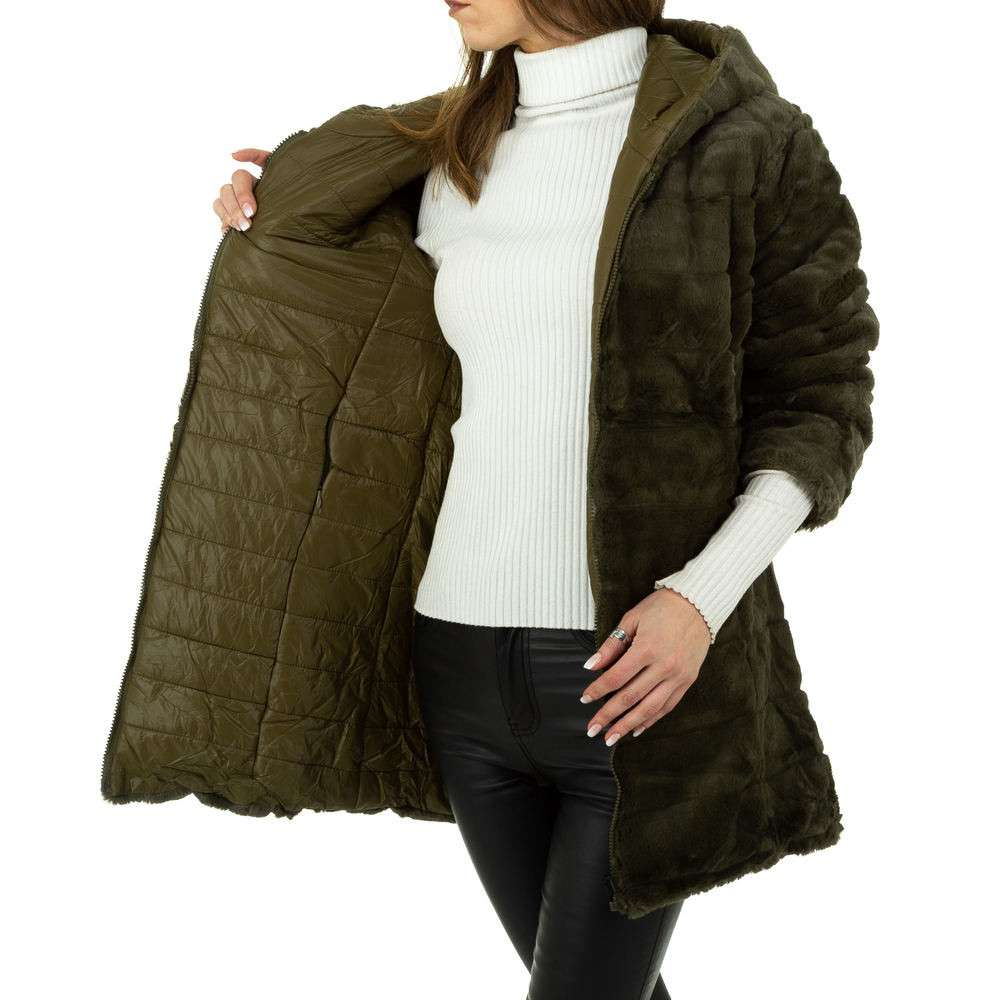 Palton de dama de Voyelles - verde - image 5