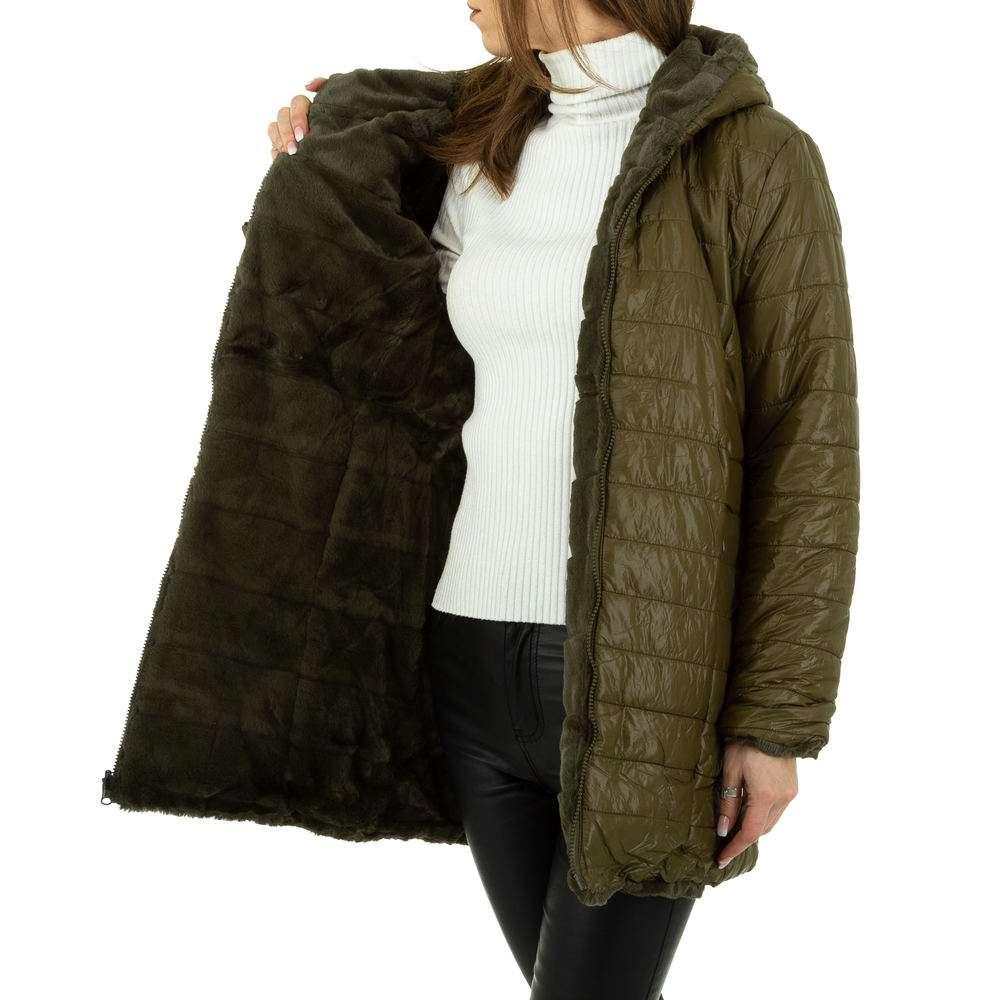 Palton de dama de Voyelles - verde - image 6