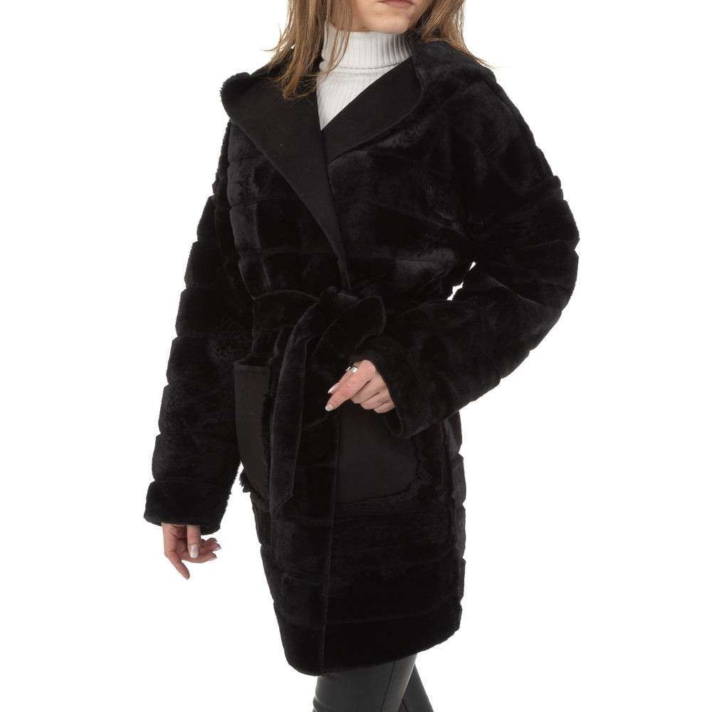 Palton de dama de Voyelles - negru - image 1