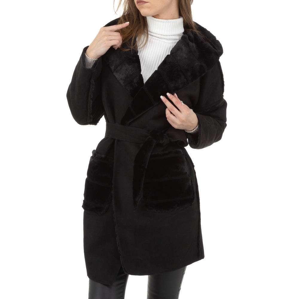 Palton de dama de Voyelles - negru - image 2