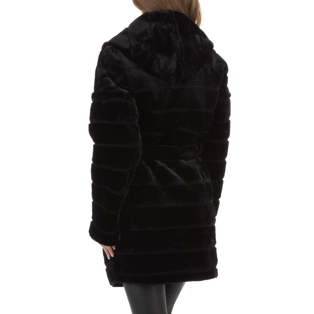 Palton de dama de Voyelles - negru - image 3