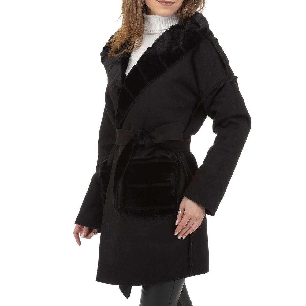 Palton de dama de Voyelles - negru - image 6