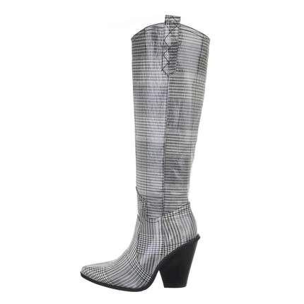 Damen High-Heel Stiefel - gris