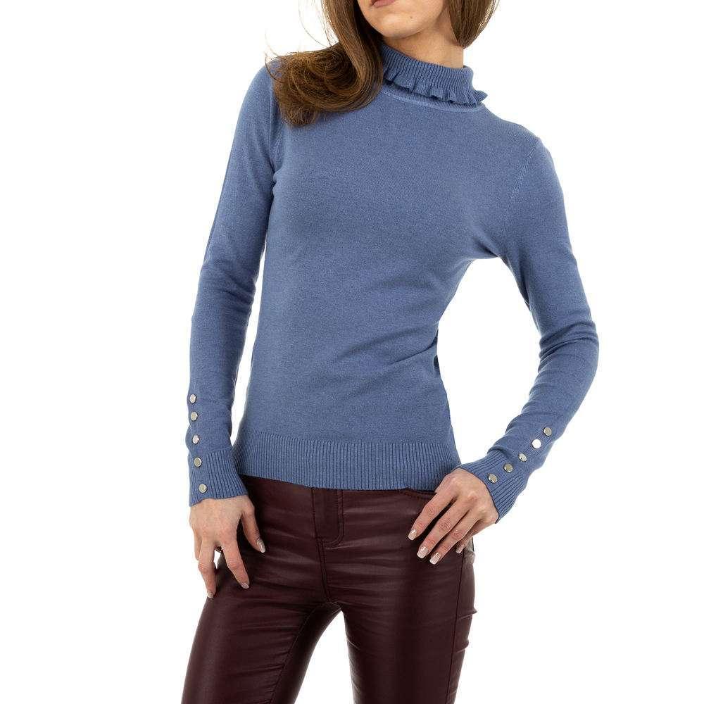 Pulover pentru femei de la Glo storye - albastru