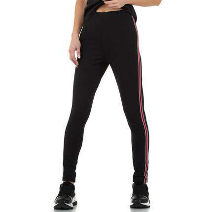 Damen Leggings von Glo Story - blackred
