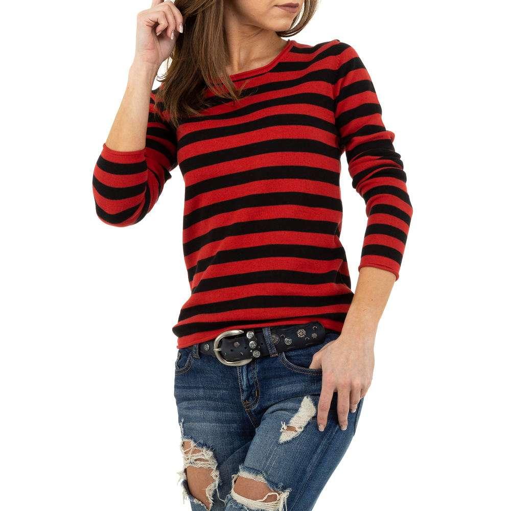 Pulover pentru femei de la Glo storye - roșu - image 4