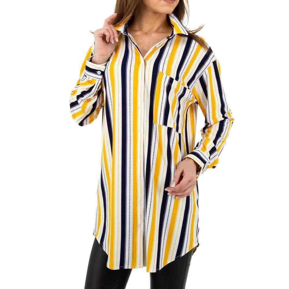 Bluză lungă de damă Glo storye - galbenă